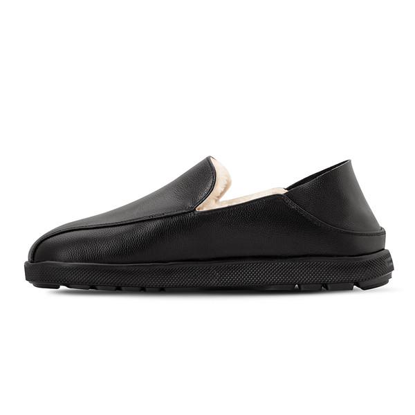 mens's black Salazar slippers-2