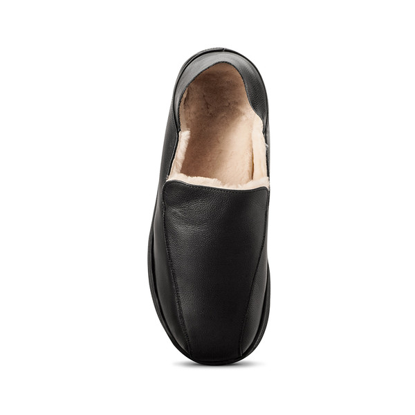 mens's black Salazar slippers-4