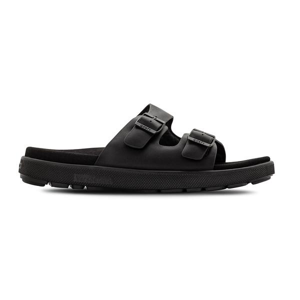 men's heston black sandals angle-2
