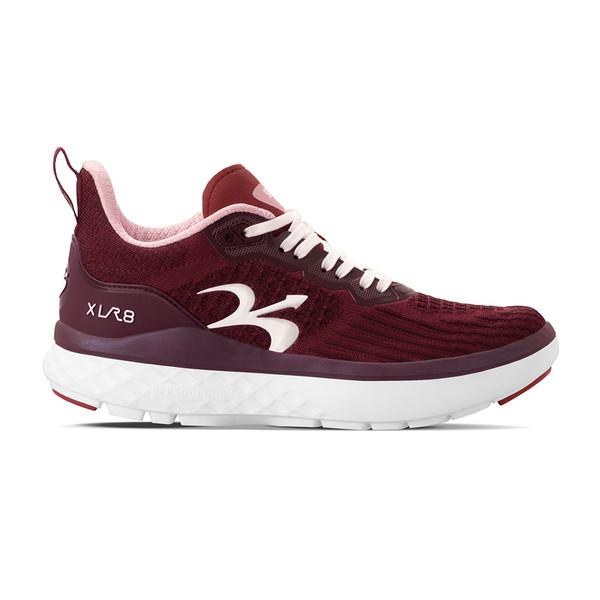 women XLR8 burgundy-pink Athletics2